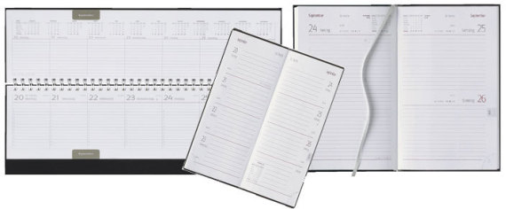 Kalender, Tischquerkalender, Buchkalender, Wandkalender, 4Monatskalender, Taschenkalender, Apothekenkalender