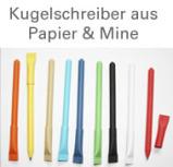 100 % Papierkugelschreiber, Öko Kugelschreiber aus Papier, Zuckertütenform, Biokugelschreiber, Recycling Papierkugelschreiber, außergewöhnliches Werbemittel für Ihre Geschäftspartner